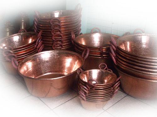 cacerolas de cobre